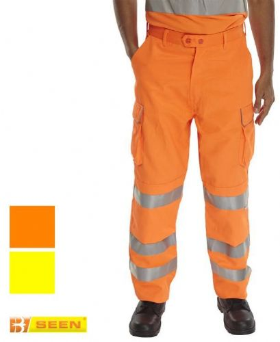CLICK RST HI VIS CARGO TROUSER WITH KNEE PAD POCKET